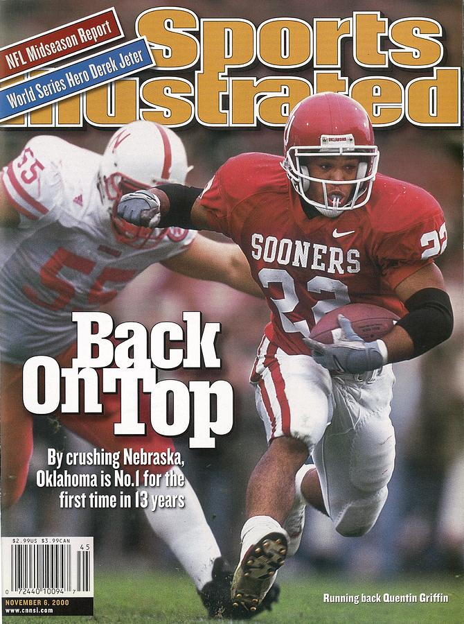 University Of Oklahoma Quentin Griffin Sports Illustrated Cover Photograph by Sports Illustrated