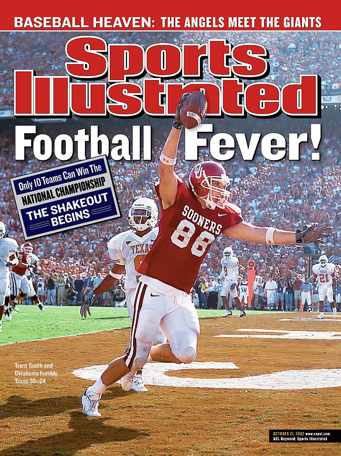 University Of Oklahoma Trent Smith Sports Illustrated Cover Photograph by Sports Illustrated
