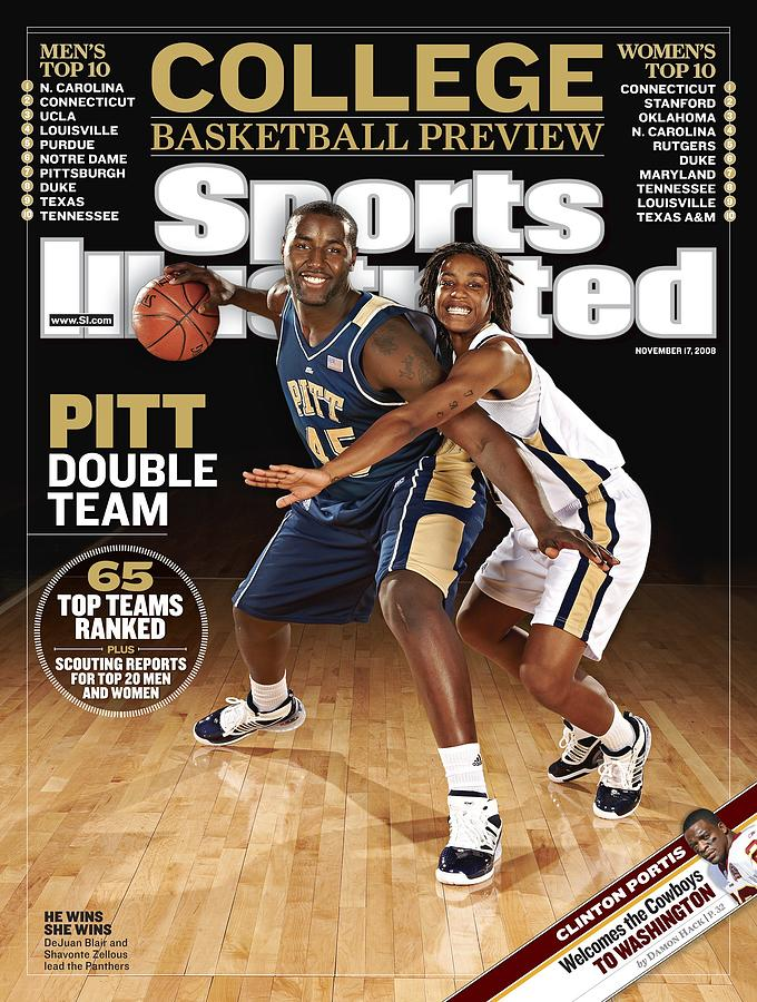 University Of Pittsburgh Dejuan Blair And Shavonte Zellous Sports Illustrated Cover Photograph by Sports Illustrated