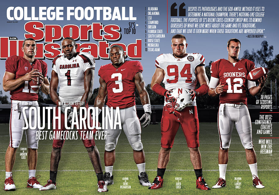 University Of South Carolina Alshon Jeffery, 2011 College Sports Illustrated Cover Photograph by Sports Illustrated