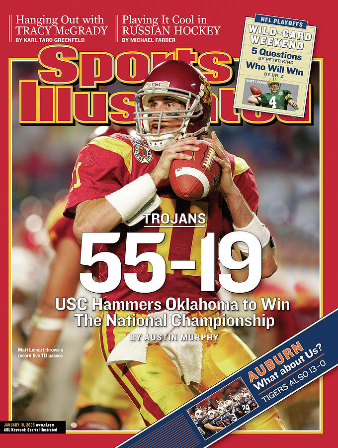 University Of Southern California 2004 Bcs National Sports Illustrated Cover Photograph by Sports Illustrated