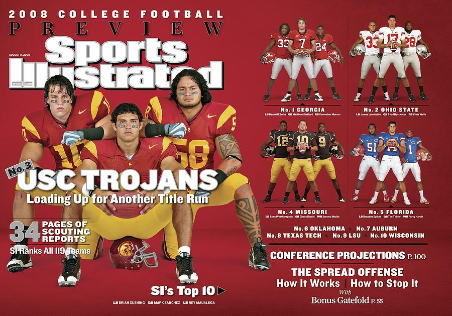 University Of Southern California, 2008 College Football Sports Illustrated Cover Photograph by Sports Illustrated