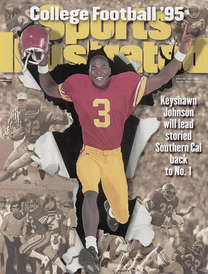 University Of Southern California Keyshawn Johnson, 1995 Sports Illustrated Cover Photograph by Sports Illustrated