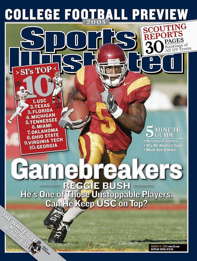 University Of Southern California Reggie Bush Sports Illustrated Cover Photograph by Sports Illustrated