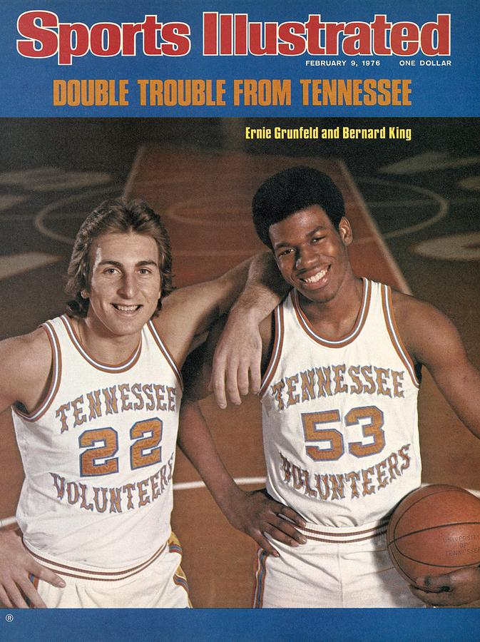 University Of Tennessee Ernie Grunfeld And Bernard King Sports Illustrated Cover Photograph by Sports Illustrated