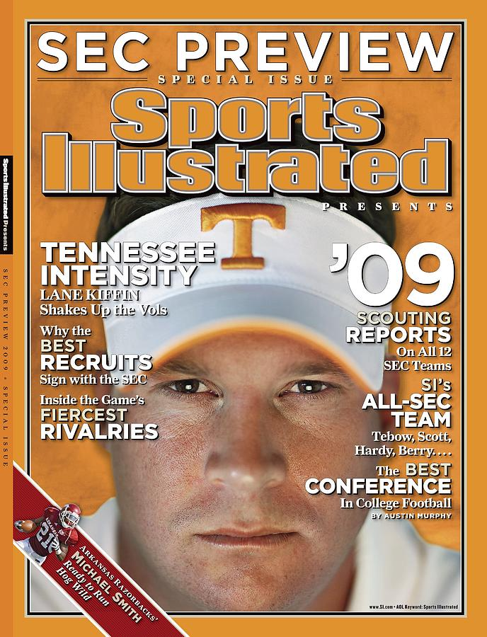 University Of Tennessee Head Coach Lane Kiffin Sports Illustrated Cover Photograph by Sports Illustrated