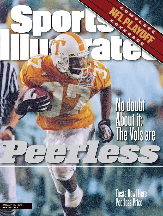 University Of Tennessee Peerless Price, 1999 Tostitos Sports Illustrated Cover Photograph by Sports Illustrated