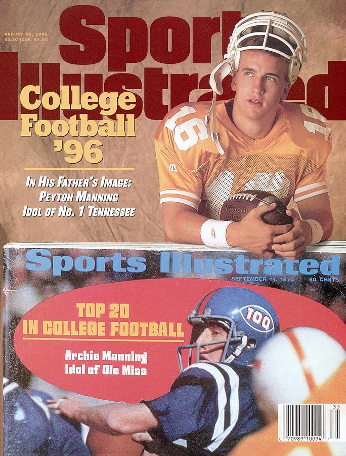 University Of Tennessee Qb Peyton Manning Sports Illustrated Cover Photograph by Sports Illustrated