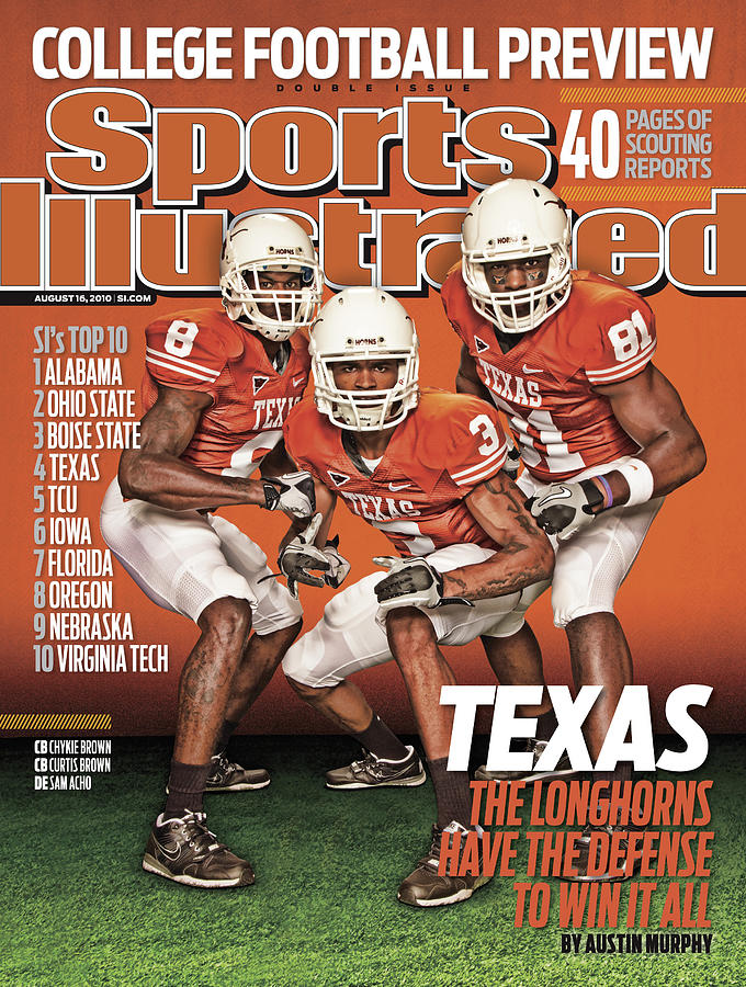 University Of Texas, 2010 College Football Preview Issue Sports Illustrated Cover Photograph by Sports Illustrated
