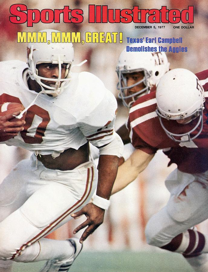 University Of Texas Earl Campbell Sports Illustrated Cover Photograph by Sports Illustrated