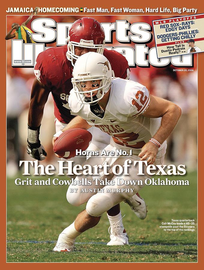University Of Texas Qb Colt Mccoy Sports Illustrated Cover Photograph by Sports Illustrated