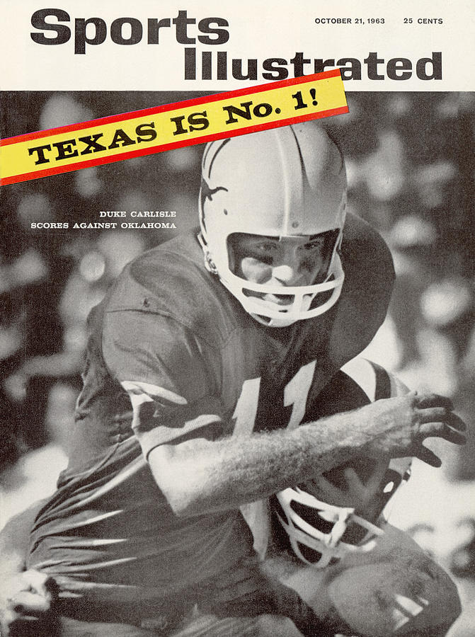University Of Texas Qb Duke Carlisle Sports Illustrated Cover Photograph by Sports Illustrated