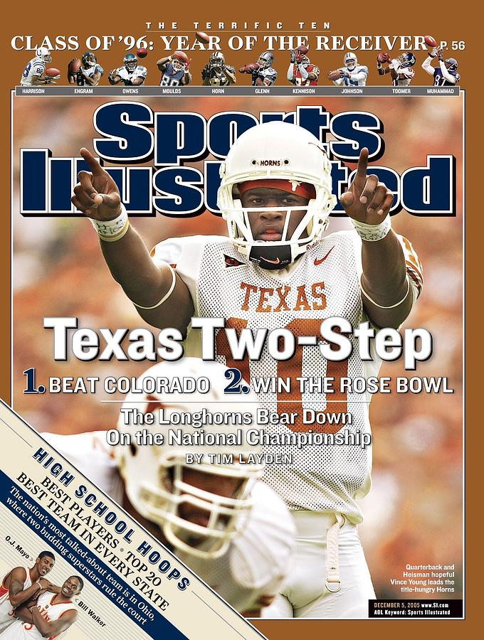 University Of Texas Qb Vince Young Sports Illustrated Cover Photograph by Sports Illustrated