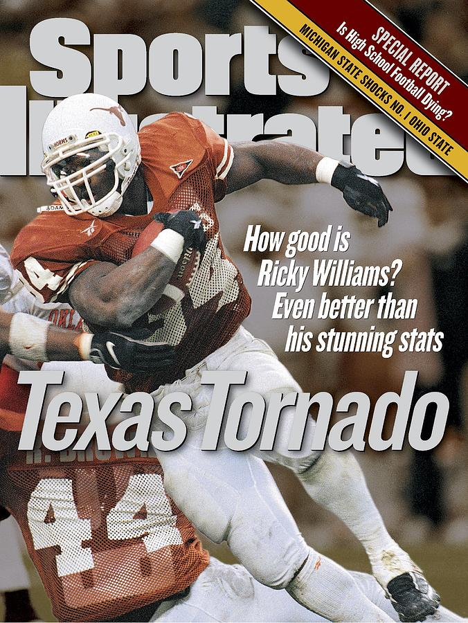 University Of Texas Ricky Williams Sports Illustrated Cover Photograph by Sports Illustrated