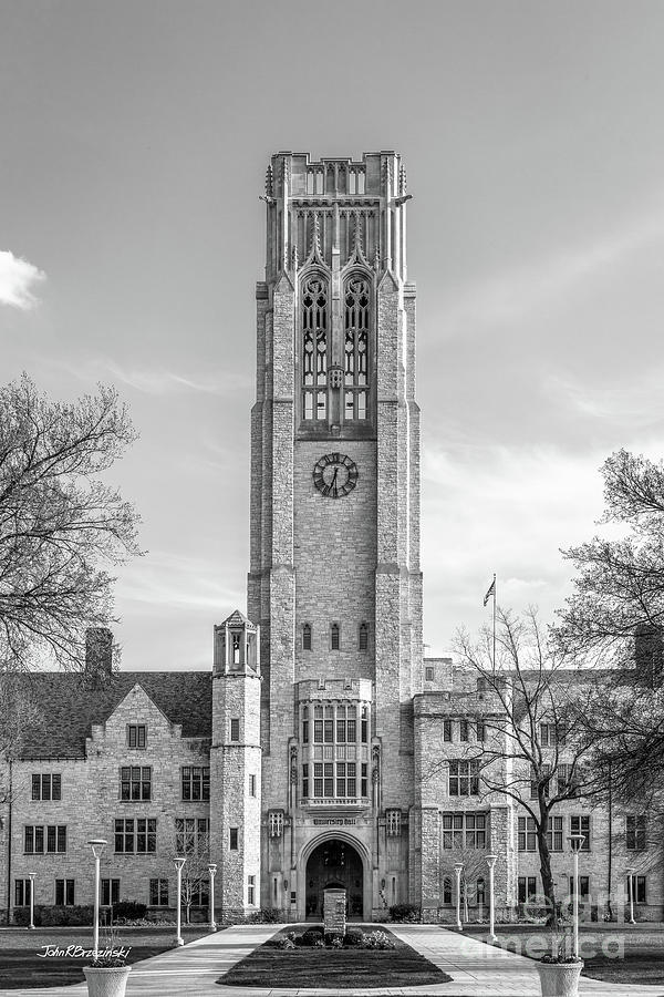 University of Toledo University Hall Tower by University Icons