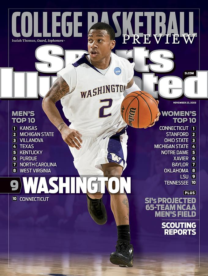 University Of Washington Isaiah Thomas, 2009 Ncaa West Sports Illustrated Cover Photograph by Sports Illustrated
