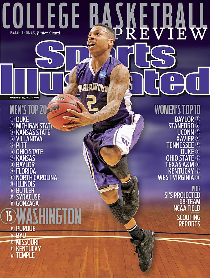 University Of Washington Isaiah Thomas, 2010 College Sports Illustrated Cover Photograph by Sports Illustrated
