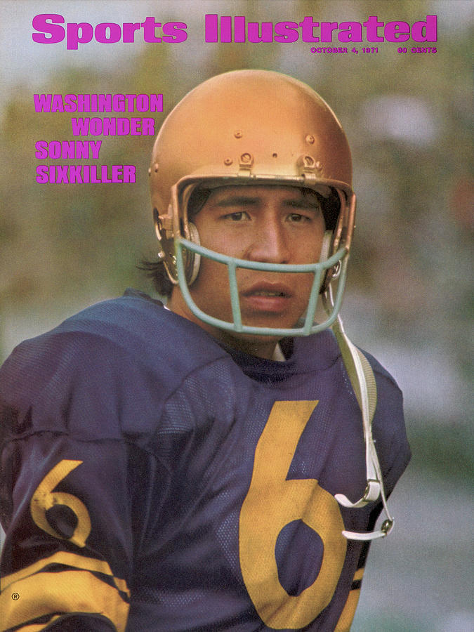 University Of Washington Qb Sonny Sixkiller Sports Illustrated Cover Photograph by Sports Illustrated