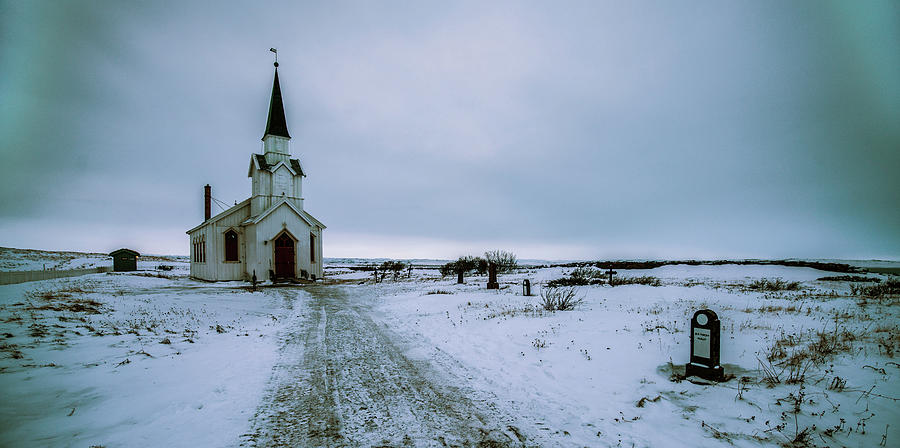 Unjarga-nesseby Church In Winter by Pekka Sammallahti