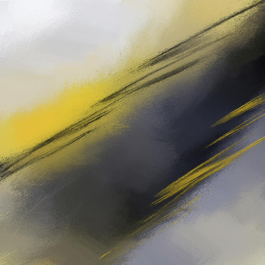 Unplanned - Yellow And Abstract Art by Lourry Legarde