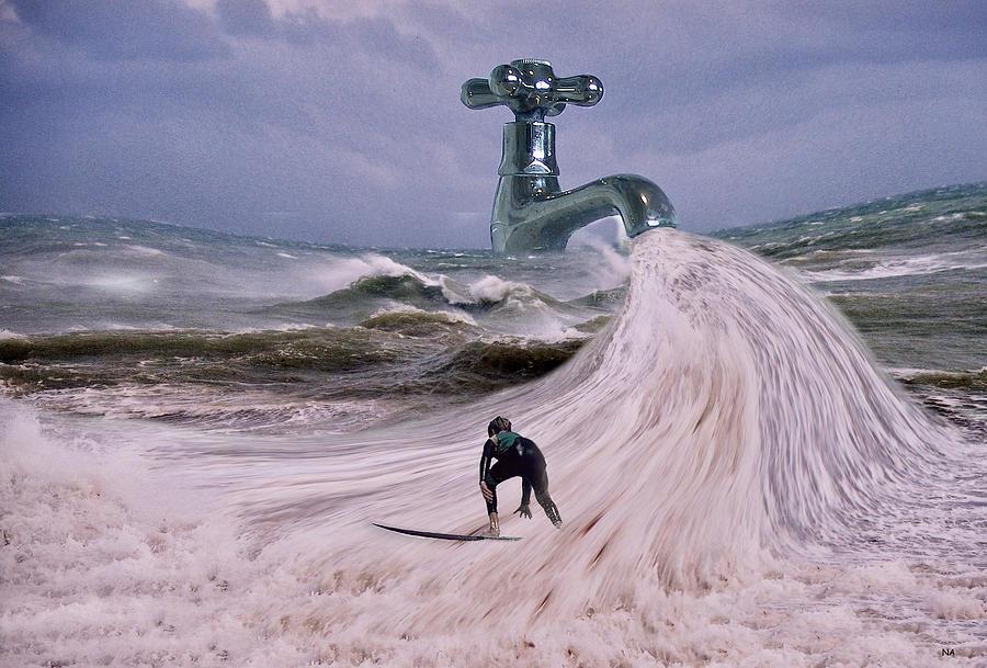 Surfer Digital Art - Untapped by Nikki Attree