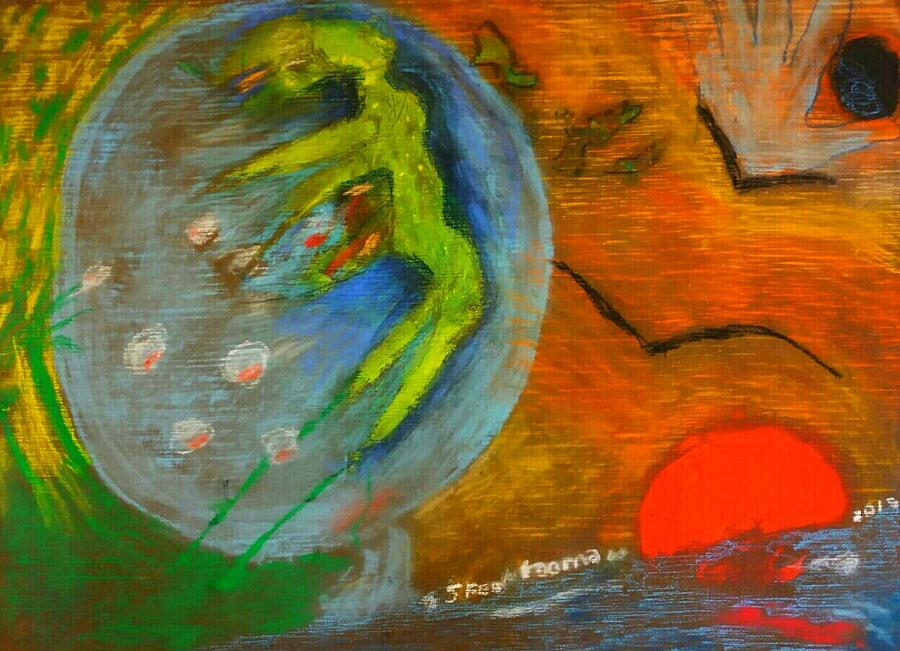 Untitled 4 Painting by Rooma Mehra
