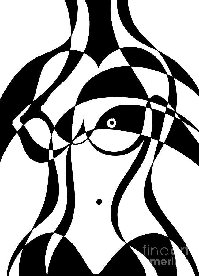 Untitled, Female Nude Torso by Manuel Bennett