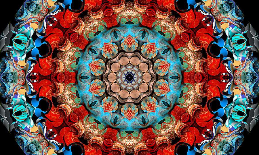 Mandala Digital Art - Untitled M 11 by Howard Brink