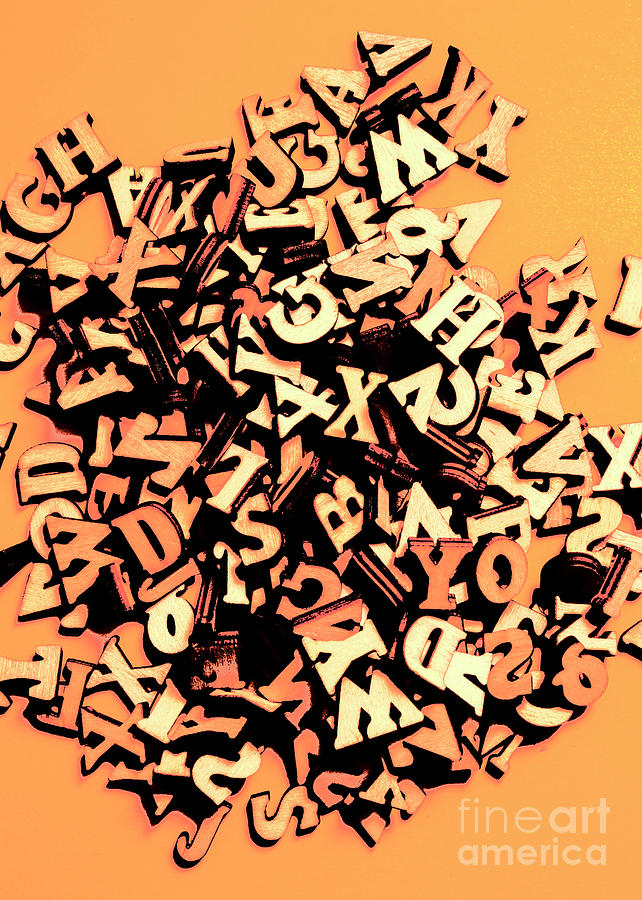 Linguistics Photograph - Untold Word Play by Jorgo Photography - Wall Art Gallery