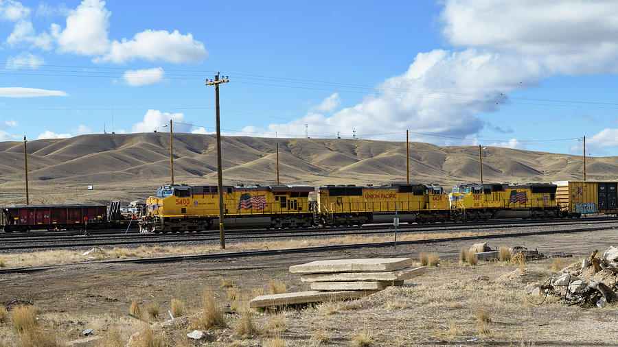UP 5400 Passing Through by Jim Thompson