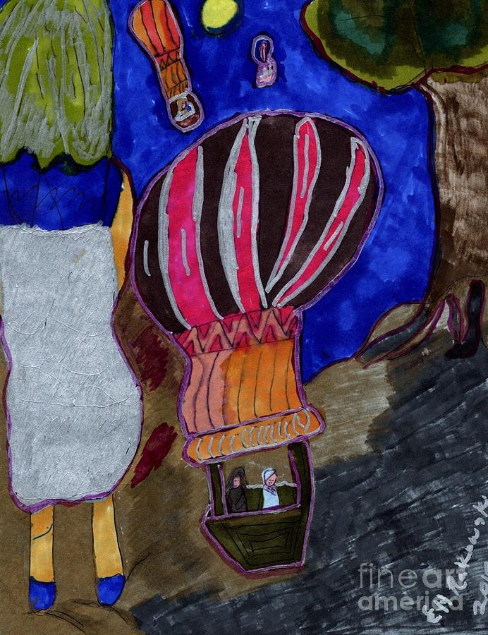 Up And Away Mixed Media by Elinor Helen Rakowski