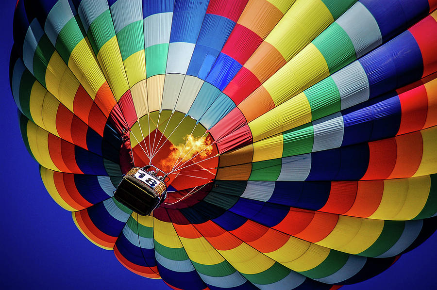 Balloon Photograph - Up And Away In Colorado by Cliff Wilson