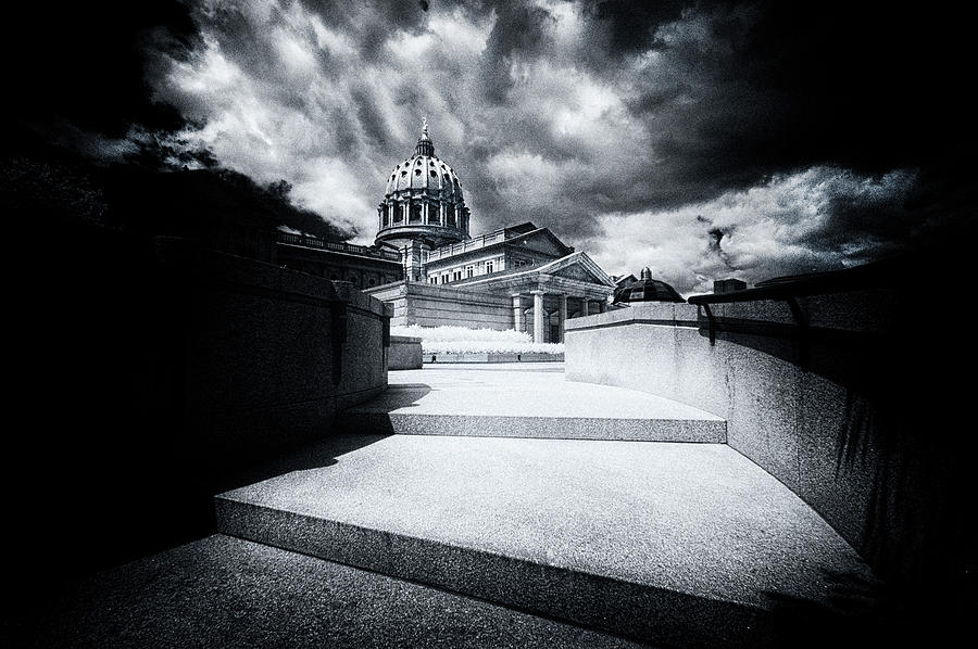 Capital Photograph - Up The Steps To The Pa Capital by Paul W Faust - Impressions of Light