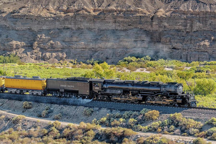 Afton Canyon Photograph - Up4014 Big Boy 1 by Jim Thompson