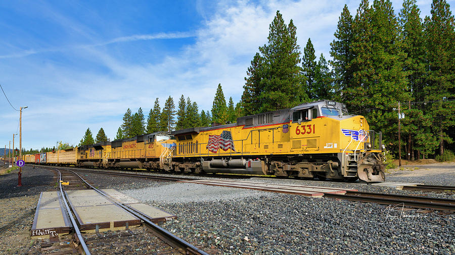 Freight Trains Photograph - Up6331 by Jim Thompson