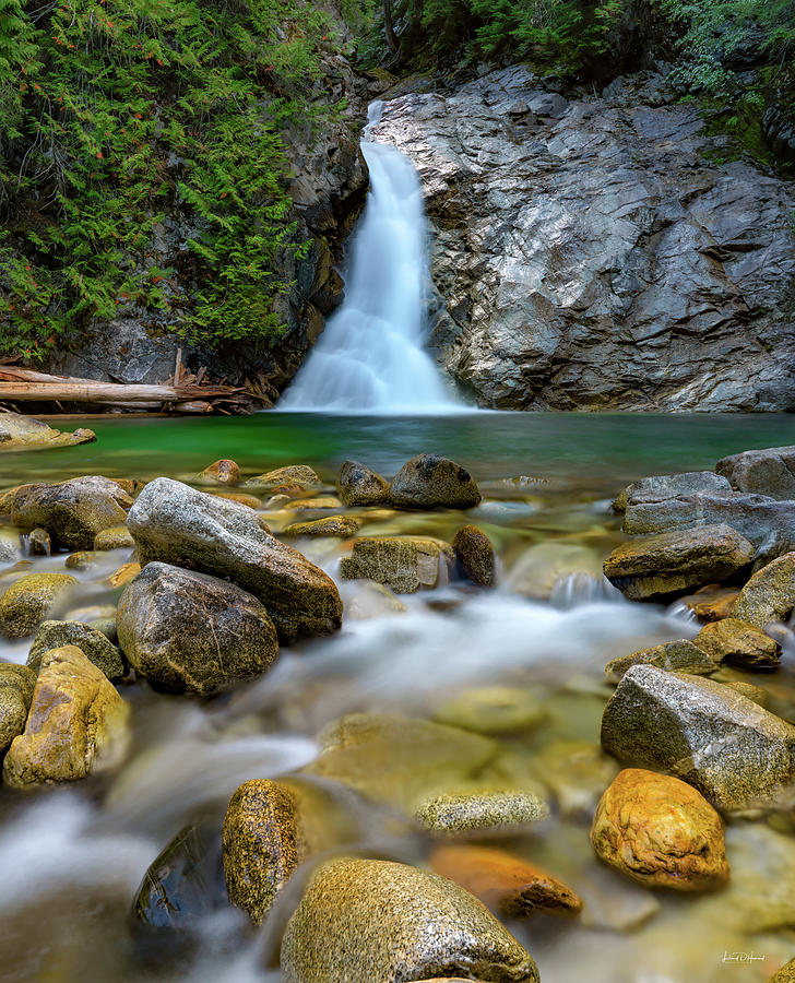 Nature Photograph - Uper Priest Falls And Cascade by Leland D Howard