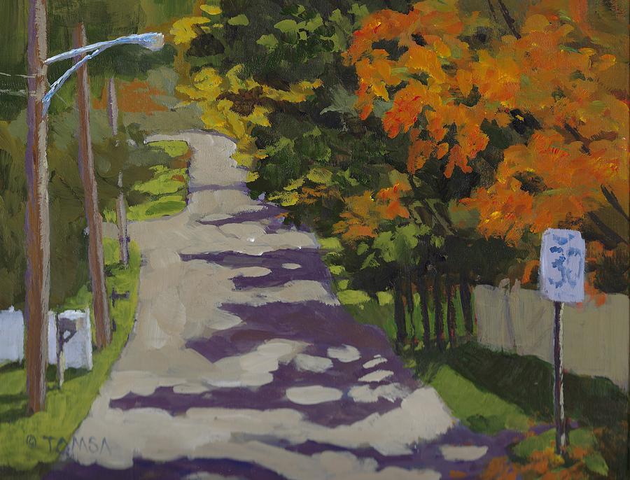 Uphill in Autumn by Bill Tomsa