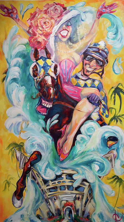 Del Mar Painting - Uplyfted  by Heather Roddy