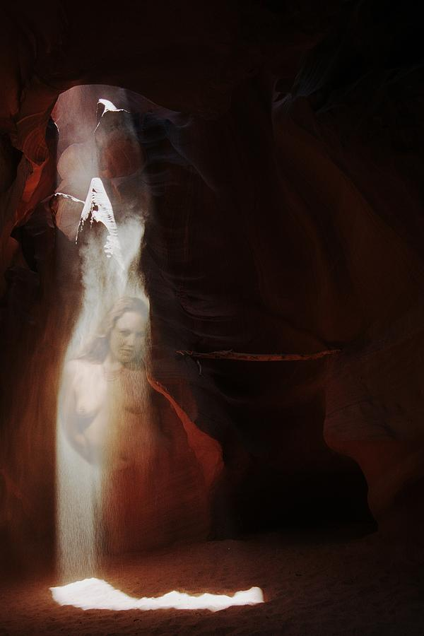 Upper Antelope Canyon Sun Shower Nymph by Richard Henne