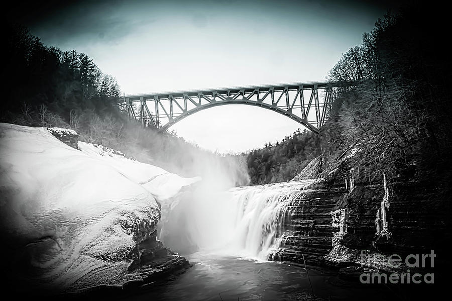 Upper Falls At Letchworth State Park Photograph by Jim Lepard