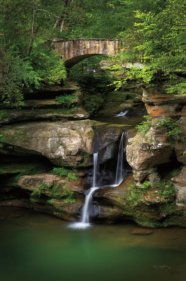 Hocking Hills Photograph - Upper Falls Old Mans Cave by Alan Majchrowicz