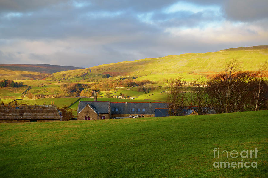 Wensleydale Photograph - Upper Wensleydale And Lovely Seat From Hawes In Yorkshire Dales by Louise Heusinkveld