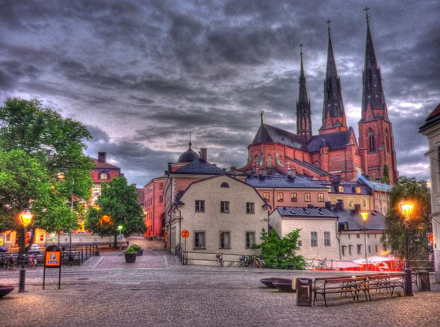 Uppsala Cathedral Hdr Photograph by Only Beautiful Photo...