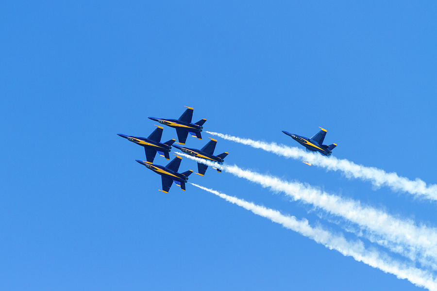 Upside Down Blue Angels by Bonnie Follett
