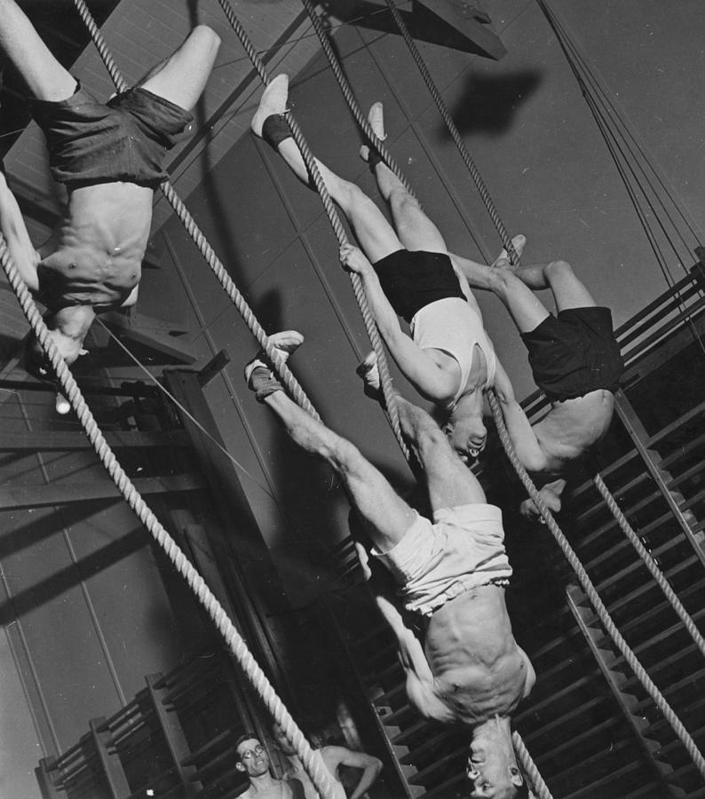 Upside Down Exercises Photograph by Fox Photos