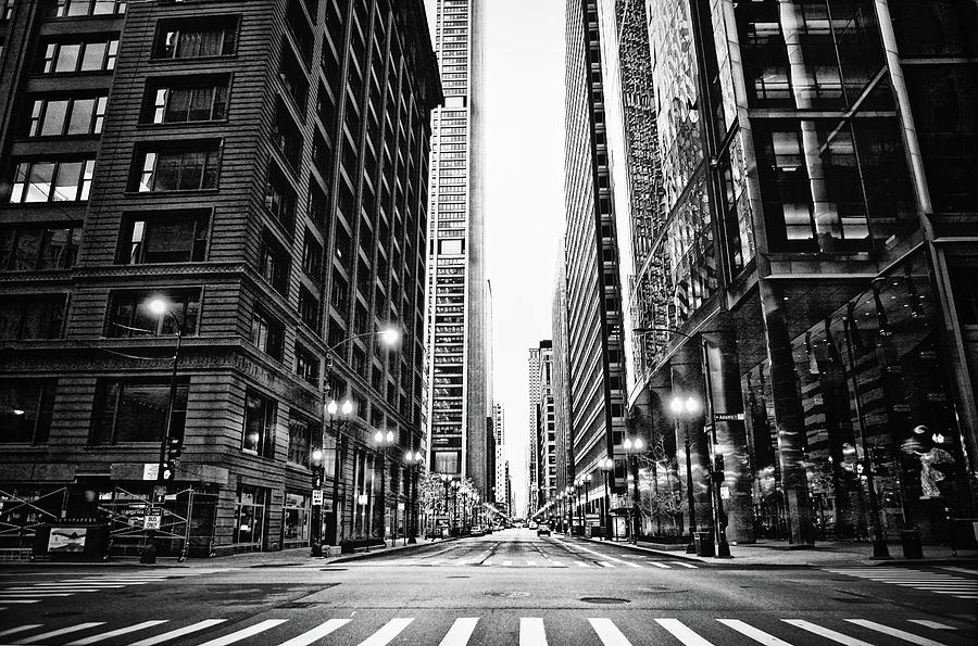 Urban Chicago City Intersection Of Photograph by Nicole Kucera