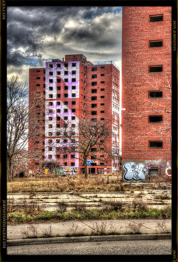 Urban Decay Buildings In Detroit Photograph By Don Johnston