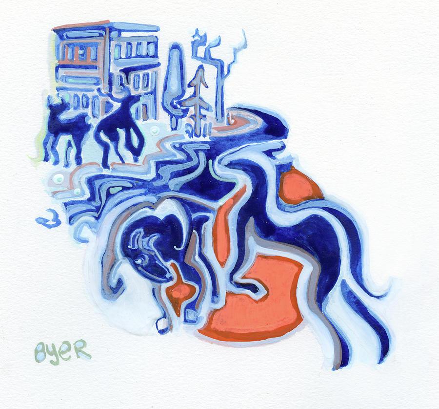 Animals Painting - Urban Deer by Josh Byer