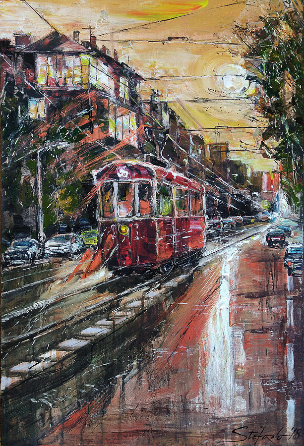 Cityscape Painting - Urban Morning Iv by Stefano Popovski