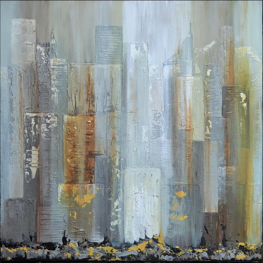 Urban Reflections I Night Version Painting